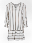 Lurex striped short dress