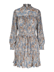 Paisley pleat dress
