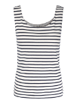 Dbl chested striped singlet