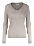 Knitted V-neck pullover