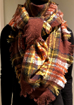 Squared checked scarf