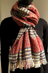 Small checked scarf