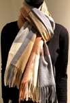 Classic checked scarf